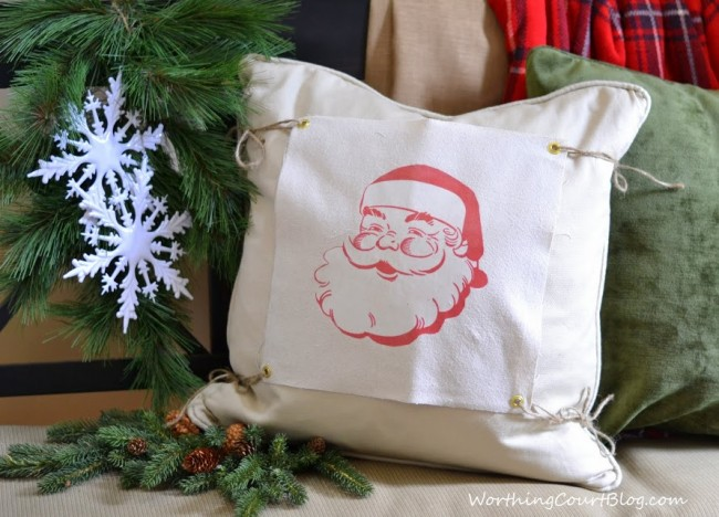 Santa changeable pillow cover
