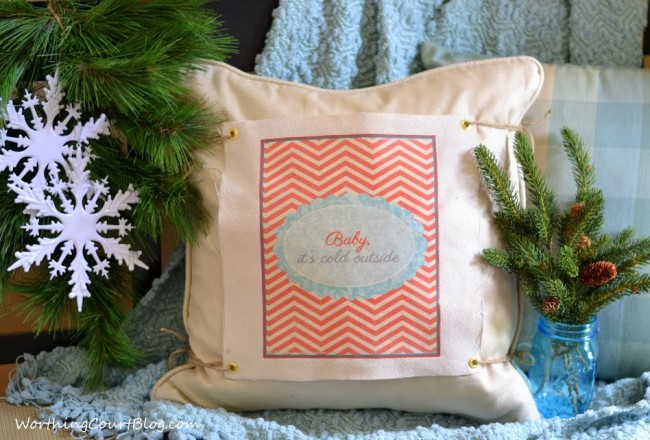 Winter changeable pillow cover