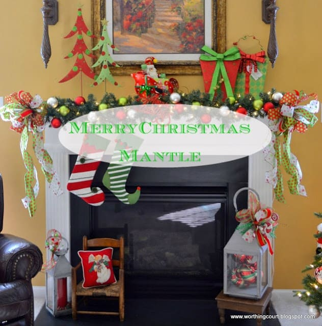 Our Merry Christmas Mantel