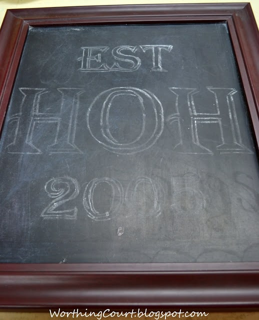 Outlined letters for chalkboard art