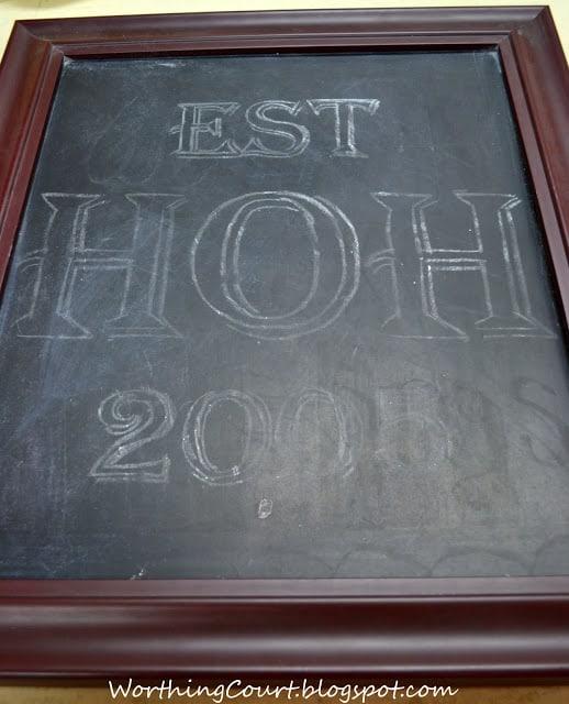 Outlined letters for chalkboard art