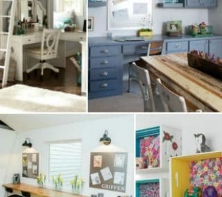 How to Create a Homework Area for Kids In A Rustic Farmhouse Home