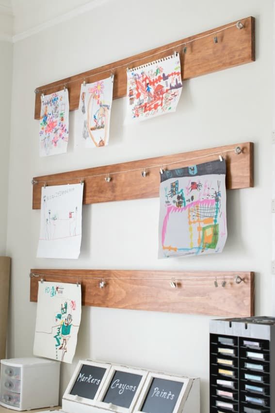 How To Create A Homework Area For Kids Attach Wire And Clips Board