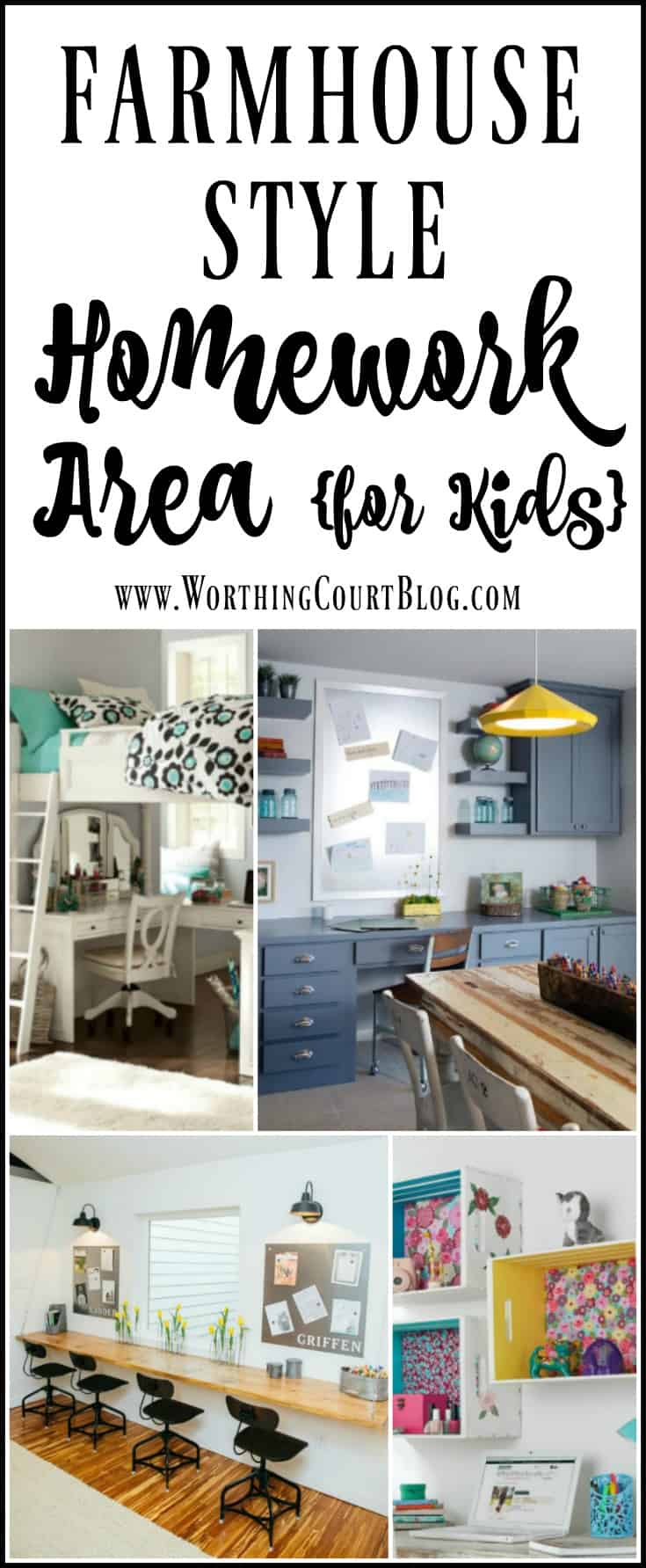 How To Create A Homework Area For Kids - farmhouse style