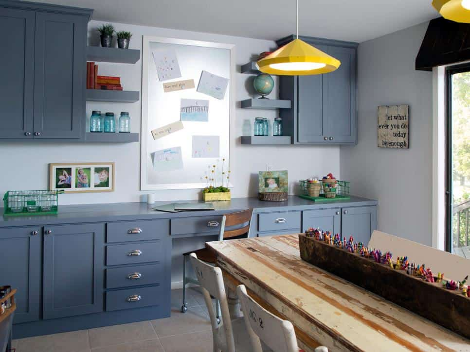 How To Create A Homework Area For Kids - make sure to allow display space for special artwork and projects