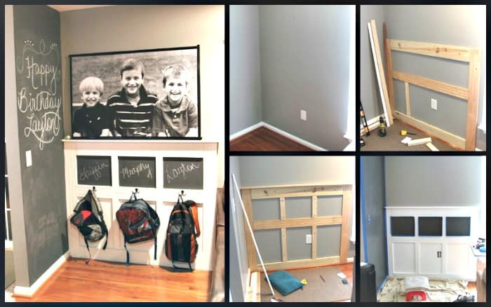 How To Create A Homework Area - step by step directions for building a backpack wall