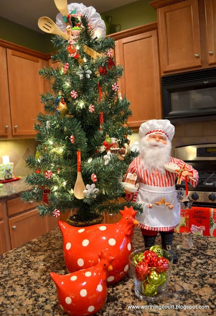 Decorated Christmas Kitchen