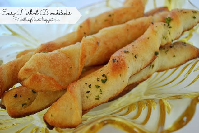 Recipe: Easy Herbed Breadsticks
