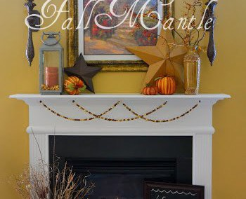 Fall Decorations On My Mantle