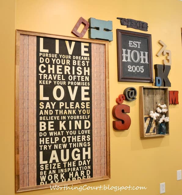 Typography-Gallery Wall