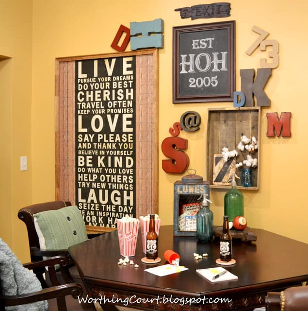 Typography Gallery Wall and Game Table