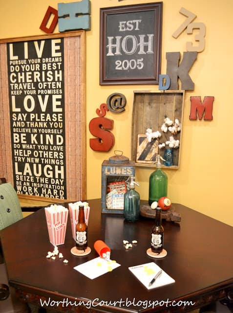 Typography-Gallery Wall and Game Table