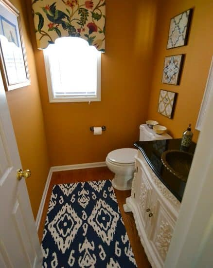 Lighter and Brighter Powder Room Reveal