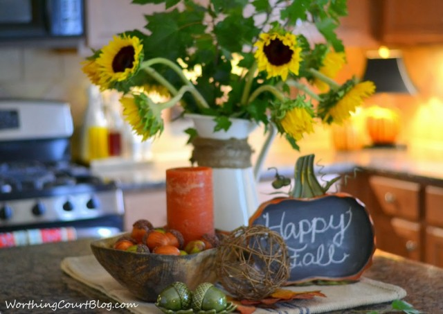Worthing Court: Fall kitchen vignette