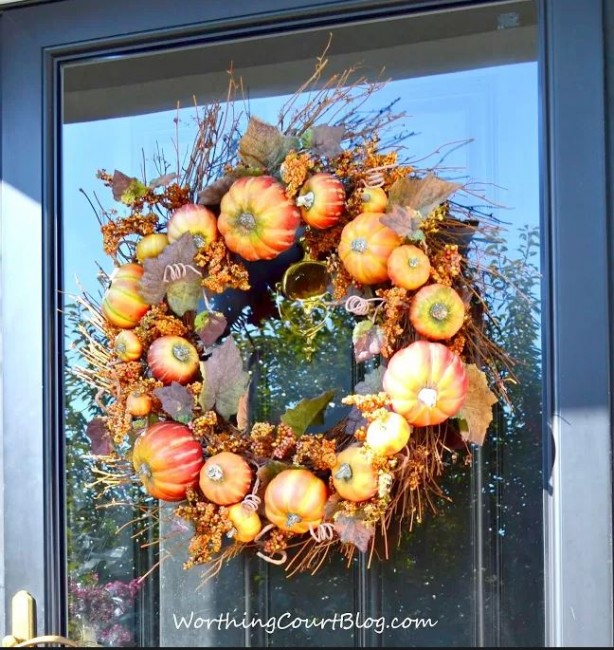 Pumpkin wreath for Fall