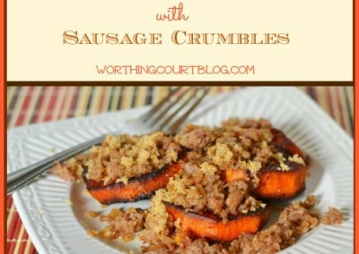 Recipe: Roasted Sweet Potato Medallions With Sausage Crumbles
