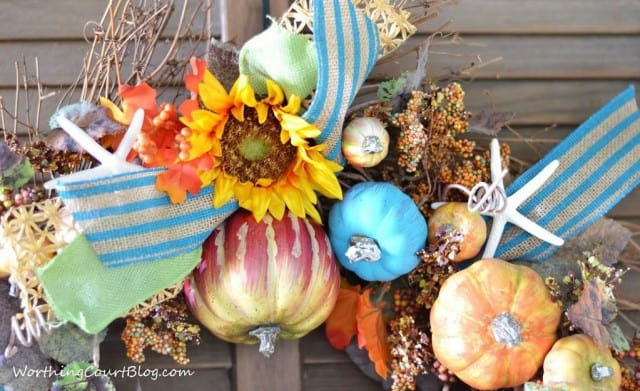Beachy fall wreath