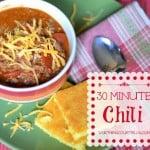 Recipe: 30 Minute Chili