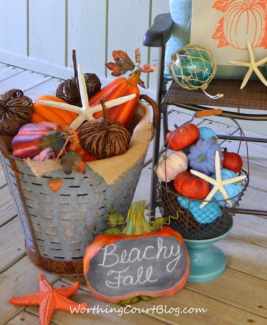 Worthing Court: Beachy fall vignette