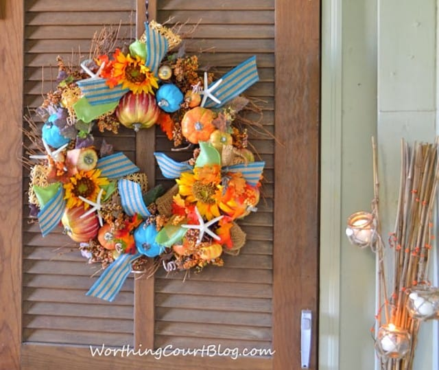 Worthing Court: Beachy fall wreath