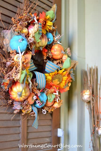 Worthing Court: Fall wreath