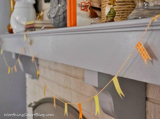 Worthing Court: Easy washi tape fall garland