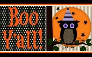 Halloween No-Sew Fabric Art