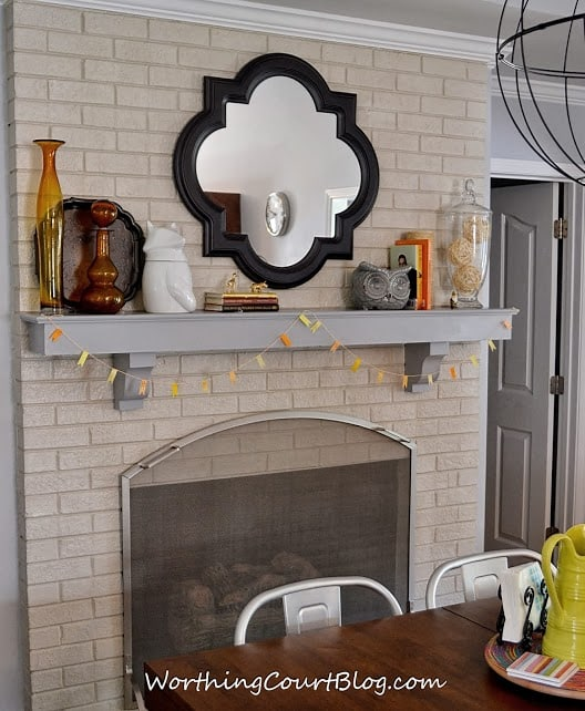 simple modern fall mantel - worthing court