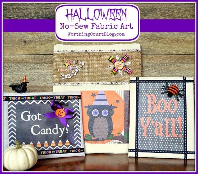 Worthing Court: Halloween No-Sew Fabric Art