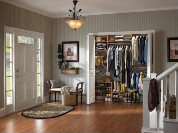 Worthing Court: Designate a place for guest's coats and pocketbooks