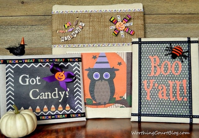 Worthing Court: Halloween No-Sew Fabric Art