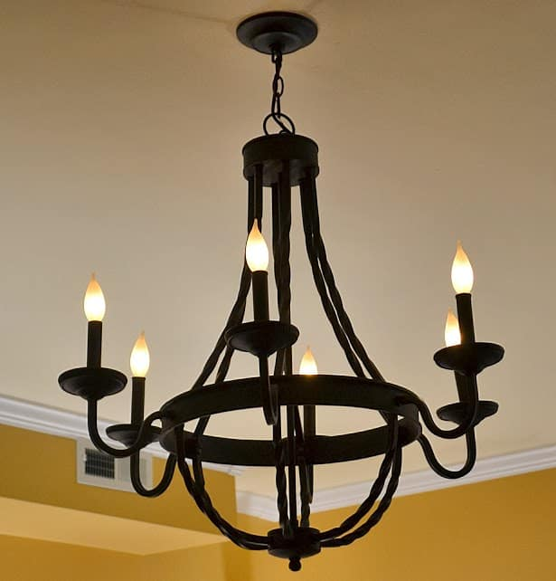 Affordable chandelier from Home Depot