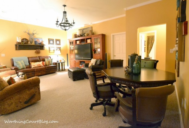 Worthing Court: Basement family room