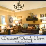 Basement Family Room Reveal