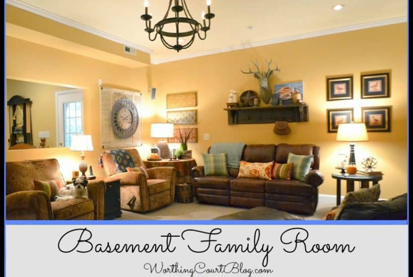 Worthing Court Blog: Basement Family Room