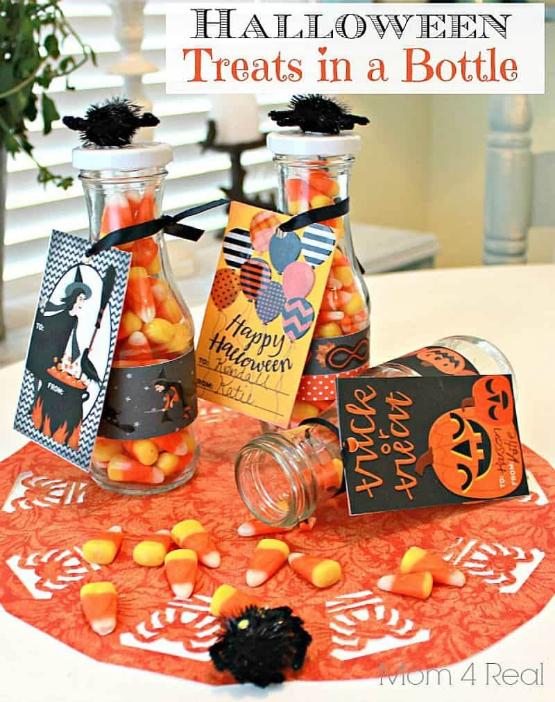 Use old bottles to make Halloween treat bags
