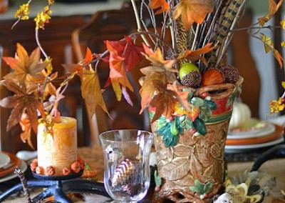 A Woodland Inspired Thanksgiving Table
