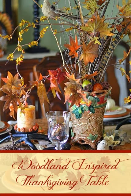 Worthing Court: Woodland Inspired Thanksgiving Tablescape