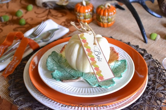 Worthing Court: Free Thanksgiving or Fall Placecard Printable