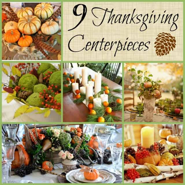 Thanksgiving centerpieces using natural elements