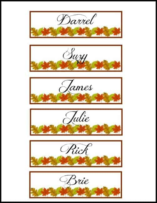 Worthing Court: Example of free Thanksgiving or Fall printable