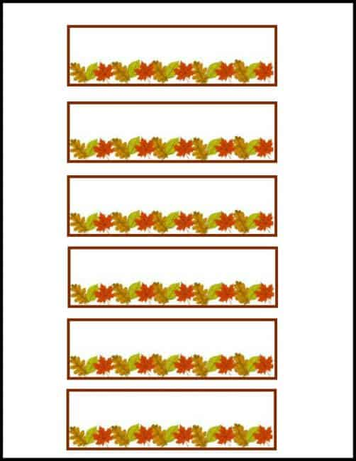Free Thanksgiving Placecard printable