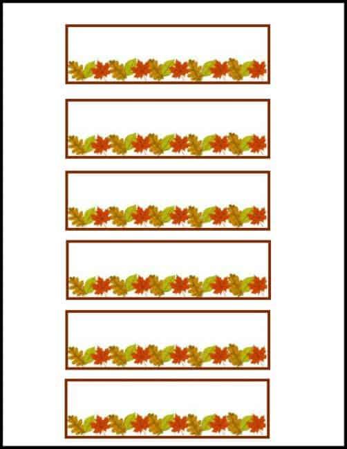 Free Thanksgiving Placecard printable