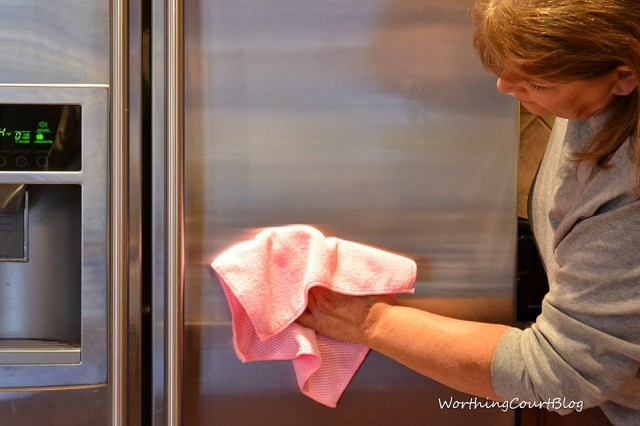 Worthing Court: Clean your stainless steel refrigerator with Steel Meister