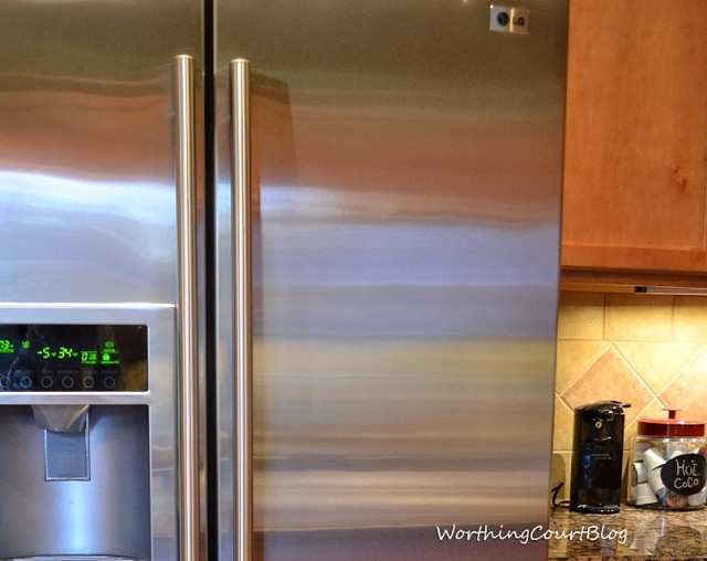 Worthing Court: Fingerprint and smudge free refrigerator after cleaning with Steel Meister