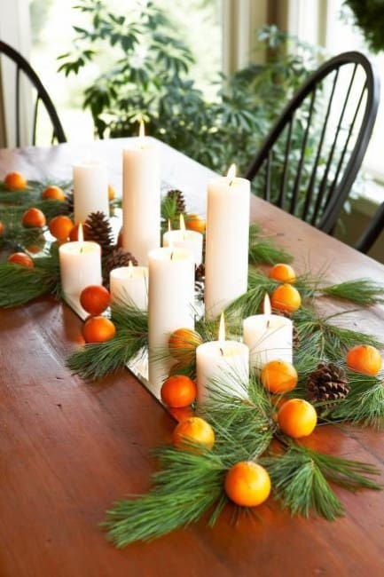 9 thanksgiving centerpieces using natural elements for Thanksgiving centerpieces with candles