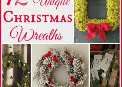 12 Unique Christmas Wreaths And An iPad Mini Giveaway!