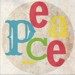 Worthing Court: Free PEACE ornament printable