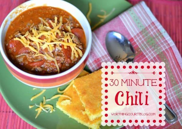 Recipe for yummy 30 Minute Chili