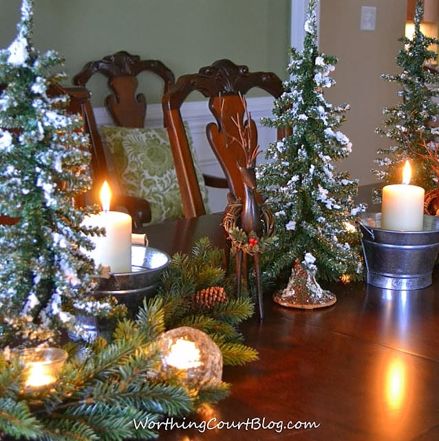 Worthing Court: Christmas centerpieces